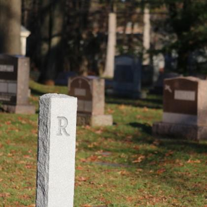 Click to view album: 2020, Granite Section Markers Added in St. Bernard Cemetery