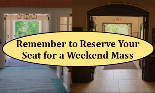 Weekend Mass Reservations